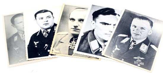 GERMAN WWII LUFTWAFFE KNIGHTS CROSS PHOTOGRAPHS
