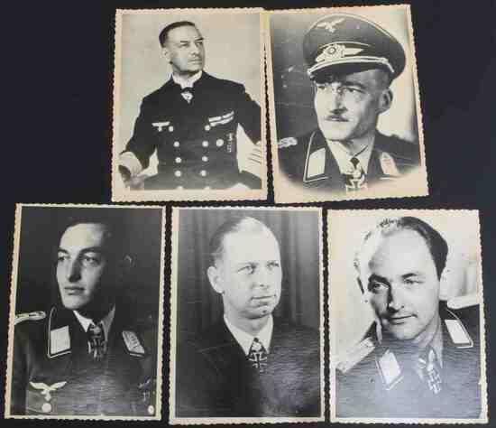 WWII GERMAN KNIGHTS CROSS WINNER PHOTOGRAPHS LOT