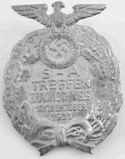 WWII GERMAN SS THIRD REICH SA TREFFEN RALLY BADGE
