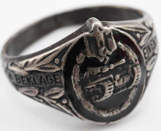 WWII GERMAN SS ARMY HEER TANK OFFICERS FINGER RING