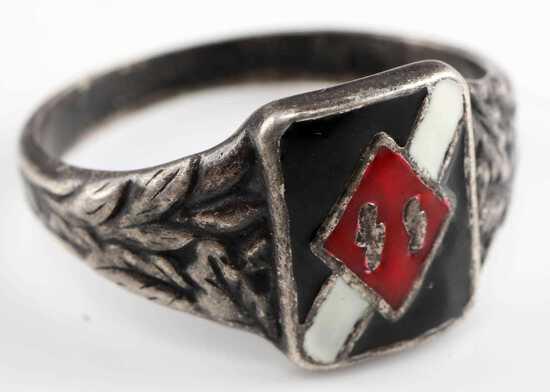WWII GERMAN THIRD REICH WAFFEN SS OFFICERS RING