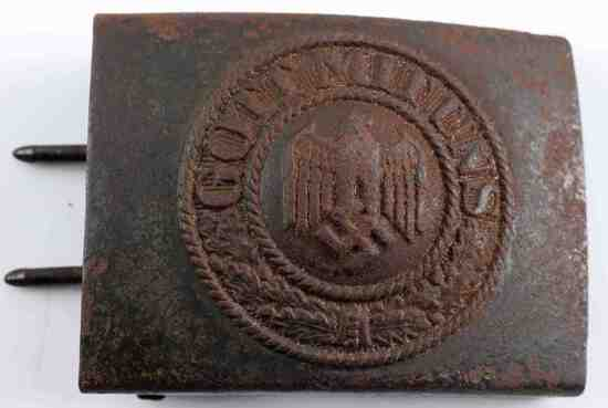 GERMAN WWII ARMY ENLISTED MANS BELT BUCKLE