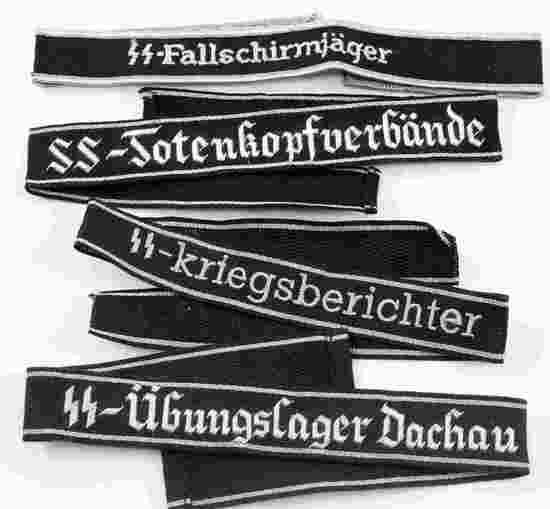 GERMAN WWII WAFFEN SS CUFF TITLES