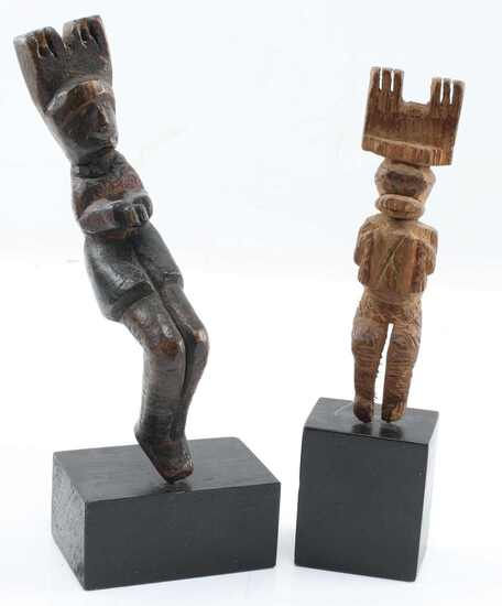 TRADITIONAL WOOD CARVED MAYAN SLINGSHOTS LOT 2