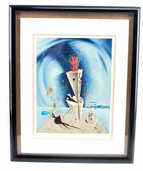 LITHOGRAPH SALVADOR DALI APPARATUS AND HAND 1927