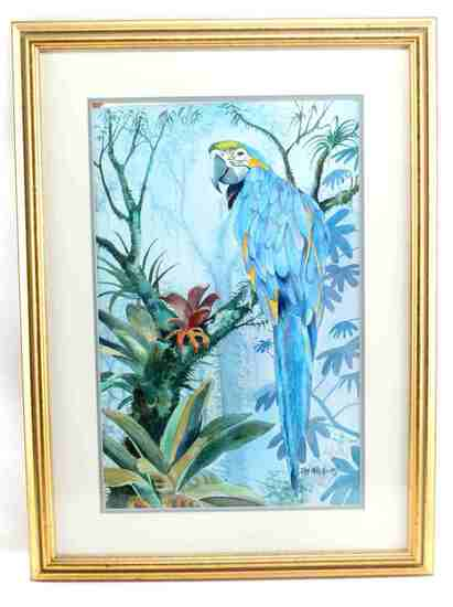 JEAN MCKEE WILLIAMS WATERCOLOR PARROT PAINTING
