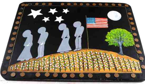 SIGNED JANICE Y KENNEDY AMERICAN SOUTH FOLK ART