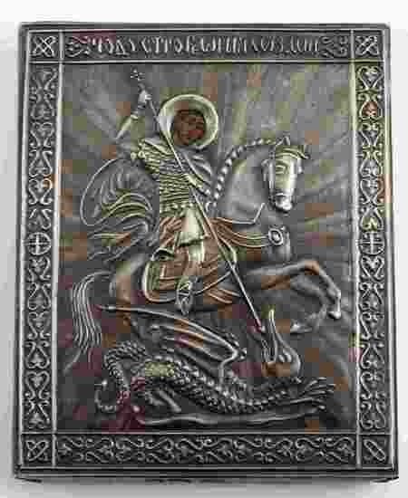 RUSSIAN IMPERIAL 84 SILVER ST GEORGE SLAYING DRAGON
