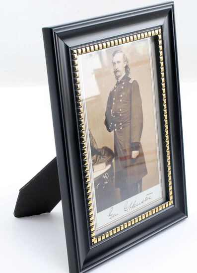 US ARMY GENERAL GEORGE CUSTER PHOTO POST CARD