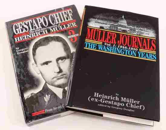 THIRD REICH HEINRICH MUELLER GESTAPO BOOK LOT OF 2