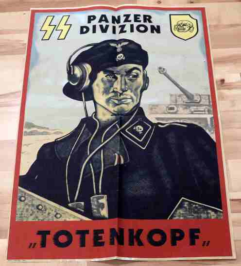 WWII GERMAN SS PANZER DIVISION TOTENKOPF POSTER