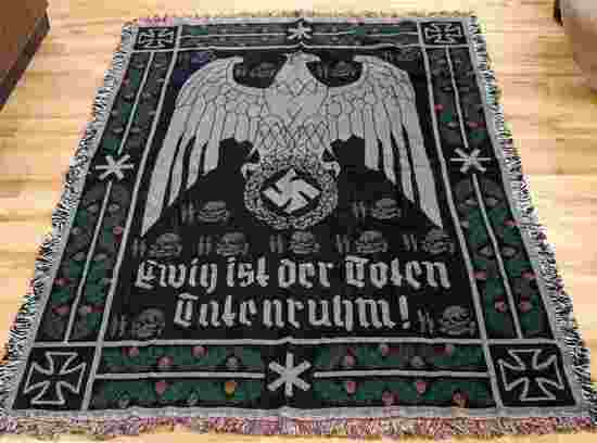 WWII GERMAN THIRD REICH WAFFEN SS WALL TAPESTRY