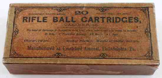 WILD WEST RIFLE BALL CARTRIDGE CARD BOARD BOX