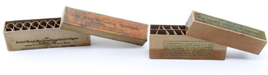 OLD WEST SHARPS RIFLE BULLET CARTRIDGE BOX LOT
