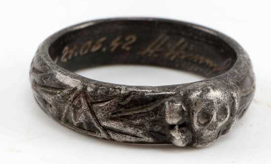 WWII GERMAN 3RD REICH SS OFFICER TOTENKOPF RING