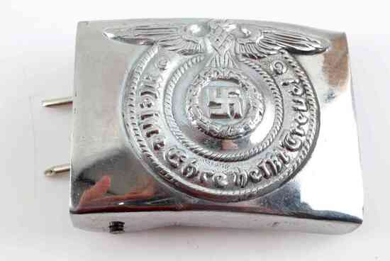 WWII THIRD REICH GERMAN WAFFEN SS BELT BUCKLE