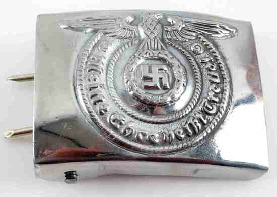 WWII THIRD REICH GERMAN SS EM PARADE BELT BUCKLE