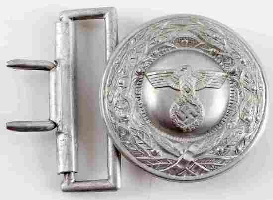 WWII THIRD REICH GERMAN PENAL OFFICER BELT BUCKLE