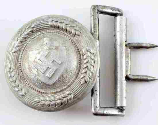 WWII GERMAN THIRD REICH RAD OFFICER BELT BUCKLE