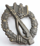 WWII THIRD REICH GERMAN INFANTRY ASSSAULT BADGE