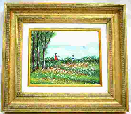 ENAMELED METAL EXPRESSIONIST PRINT SIGNED ANNA