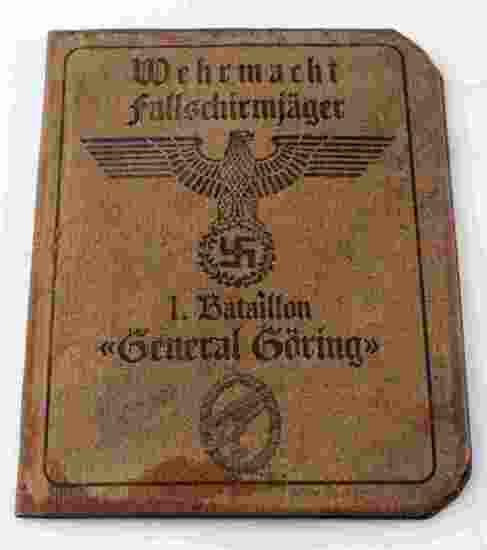 WWII GERMAN AUSWEIS OF A WAFFEN SS PARATROOPER