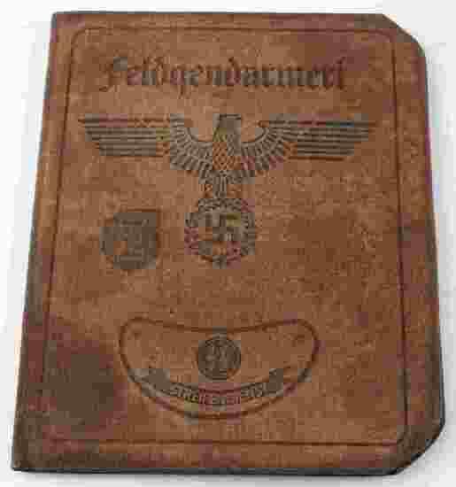 WWII GERMAN AUSWEIS OF A WAFFEN SS FIELDZHANDARM