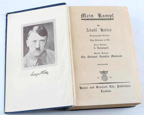 WWII ADOLF HITLER 1939 ENGLISH EDITION MEIN KAMPF