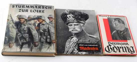 WWII GERMAN THIRD REICH BLITZKRIEG BOOK LOT OF 3