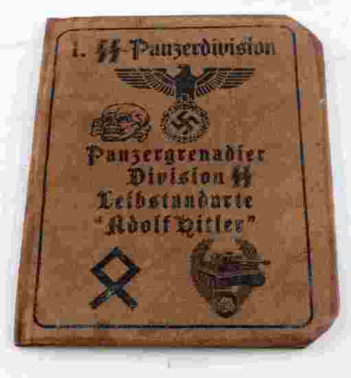 WWII GERMAN AUSWEIS OF A WAFFEN SS PANZERMAN