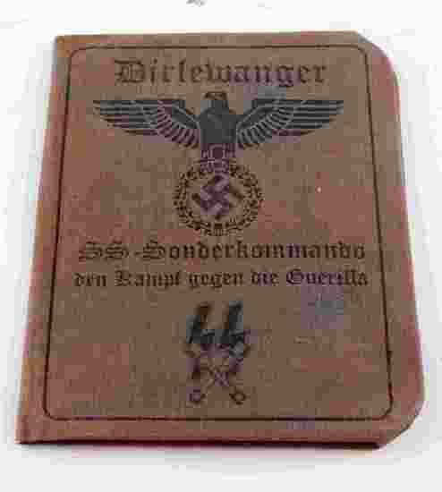 WWII GERMAN AUSWEIS OF A WAFFEN SS SONDERKOMMANDO