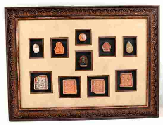 INDIA HINDU DEITY TERRACOTTA VOTIVE RELIEFS PLAQUE