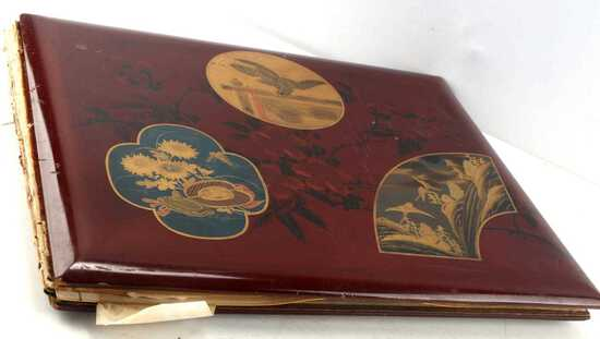 JAPANESE PHOTO ALBUM LITHOGRAPH EARLY 20TH CENTURY