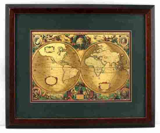 NOVA TOTIS TERRARVM ORBIS GEOGRAPHICA GOLD MAP