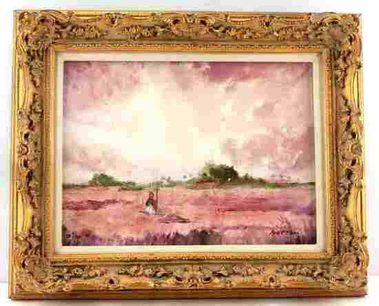 FLORIDA MARSH LANDSCAPE PAINTING BY ANDERSON