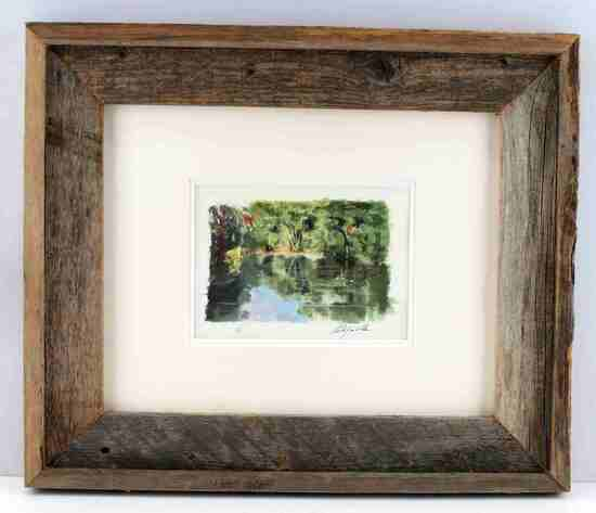 OLD FLORIDA RIVER LANDSCAPE WATERCOLOR PAINTING