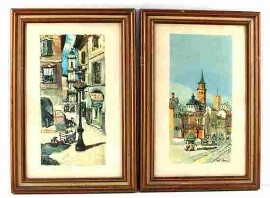 VINTAGE MID CENTURY ITALIAN CITYSCAPE PRINT LOT
