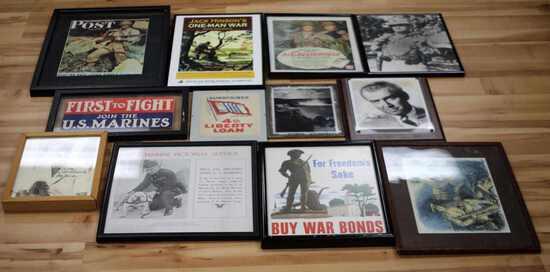 WWI II MIXED LOT OF WAR BOND PRINTS & PHOTOS