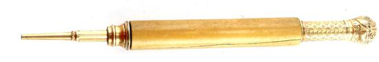 DATE 1871 VICTORIAN IVORY SHAFT PROPELLING PENCIL