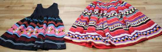 FLORIDA SEMINOLE INDIAN SKIRT & CHILDS DRESS