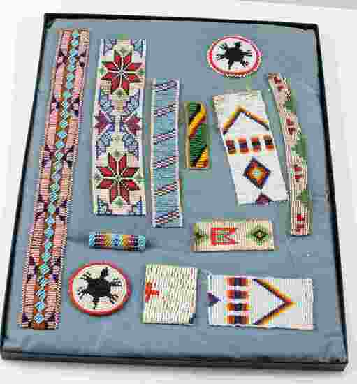 AMERICAN INDIAN BEADED PANELS ROSETTES COLLECTION