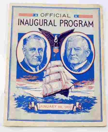 1937 OFFICIAL INAUGURAL PROGRAM FDR ROOSEVELT