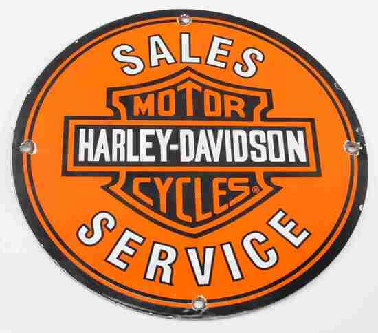 VINTAGE HARLEY DAVIDSON MOTORCYCLE SALES SIGN