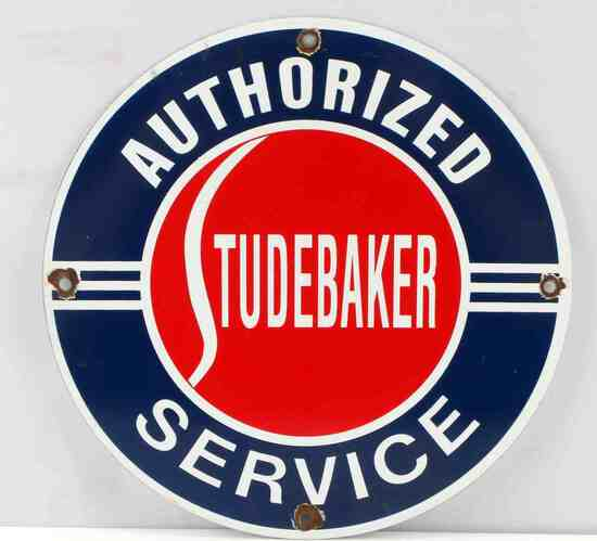 VINTAGE STUDEBAKER AUTHORIZED SERVICE AD SIGN
