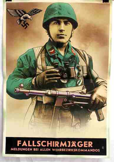 WWII GERMAN PARATROOPER RECRUITING POSTER