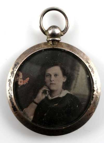 WWII GERMAN AUSCHWITZ PHOTO LOCKET UNIFORM PIECE