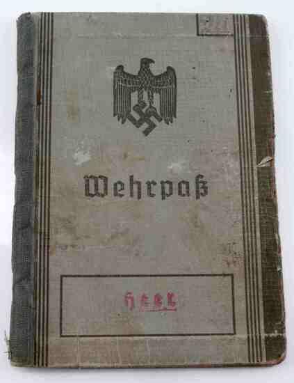 GERMAN WWII ARMY HEER MILITARY SOLDIER WEHRPASS