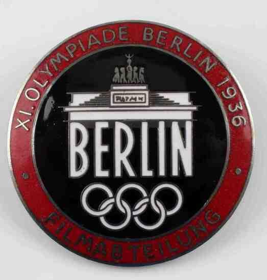 WWII GERMAN 1936 SUMMER OLYMPICS FILM MAKERS BADGE