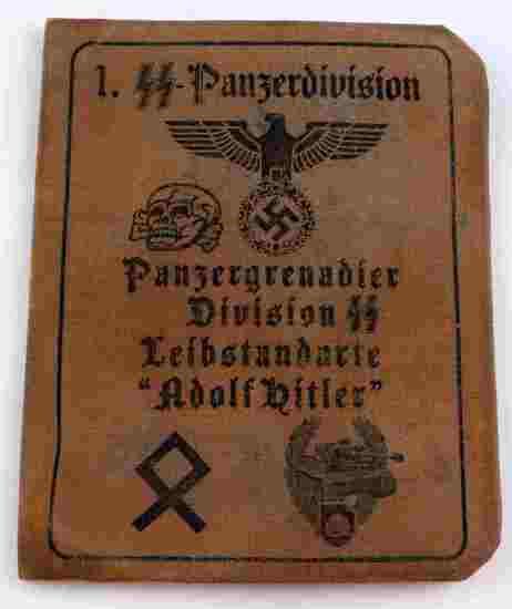 GERMAN WWII WAFFEN SS OFFICER ADOLF HITLER DIV ID