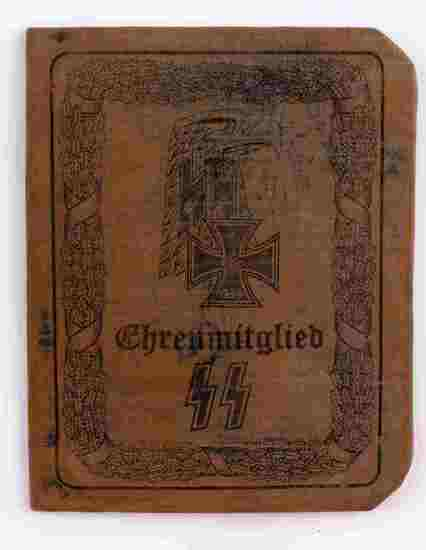 WWII GERMAN ADOLF HITLER IDENTIFICATION BOOKLET